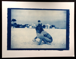 Cyanotype from enlarged negative